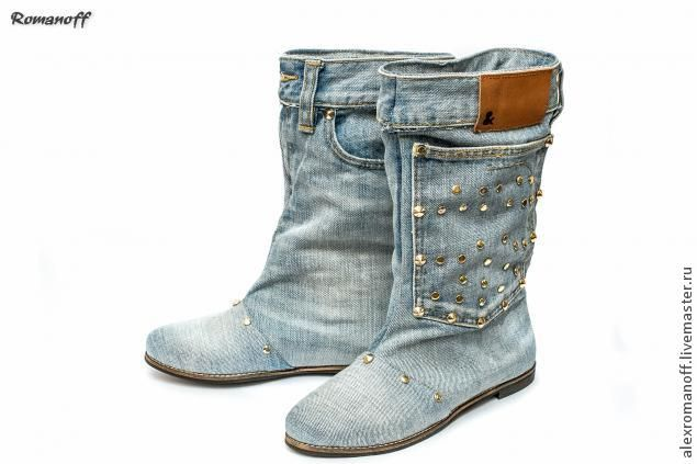 How to make shoes out of jeans - Fair Masters - handmade, handmade