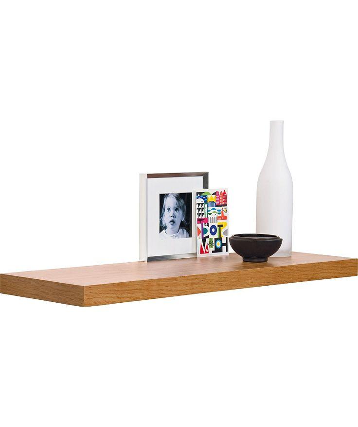 Buy 80cm Floating Shelf - Oak Effect at Argos.co.uk - Your Online Shop for Wall mounted shelves.