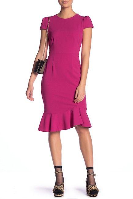 be6bae5e948c Betsey Johnson | Scuba Crepe Ruffle Hem Dress | Wish list ...