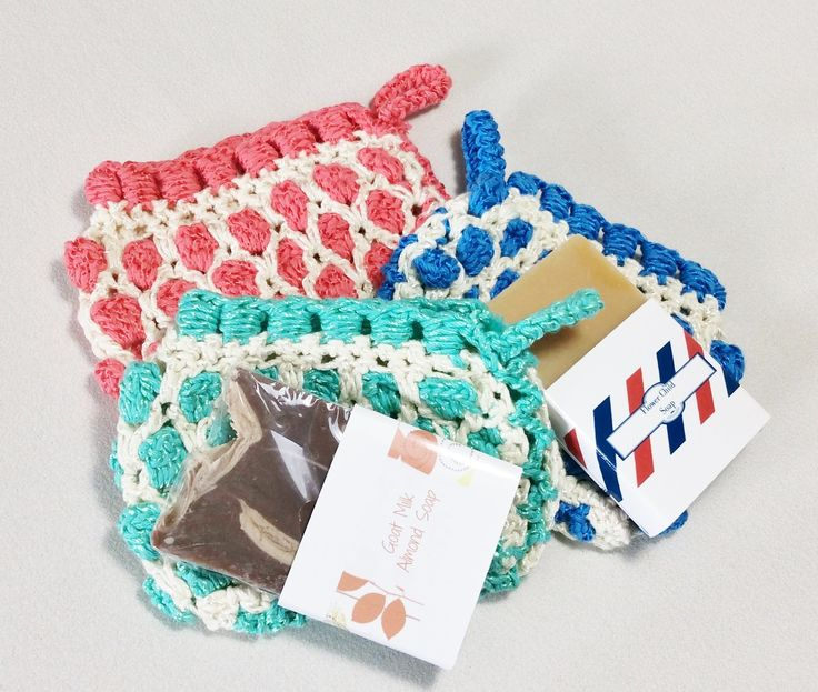 Crochet Moroccan style soap saver bag