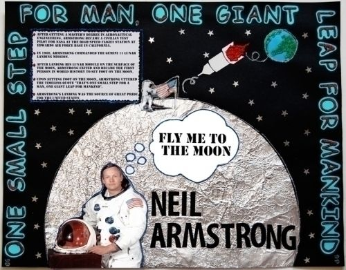 Make a Poster about Neil Armstrong   Landing a Man on the Moon Poster Ideas