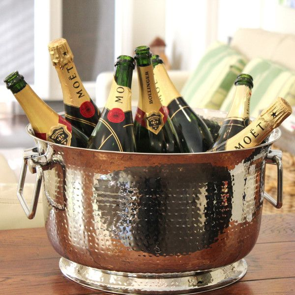 Hamptons Ice/Champagne Bucket Laughter and fun. The perfect ice bucket for all your Hamptons entertaining #hamptonsinteriors #hamptonsstyle #entertaining #icebucket