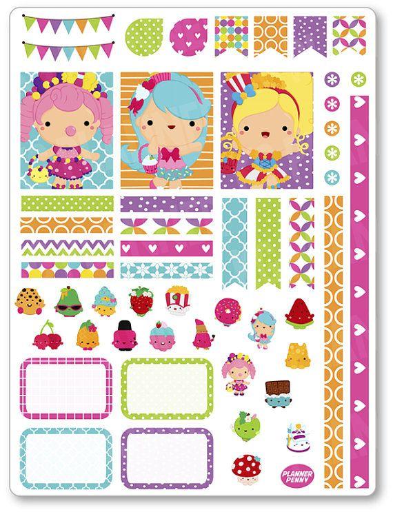 Niñas Shopper decoración Kit / extensión semanal por PlannerPenny