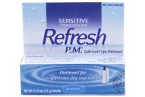 Refresh P.M provides night time protection and strong relief from dry eyes. Helps relieve dry, burning, itching eyes due to exposure from wind and sun. Ointment is thicker and remains on the eye for a long period of time. Allows you to awake in the morning with your eyes feeling refreshed. Preservative free formula. Includes 3.5g (0.12oz) bottle.