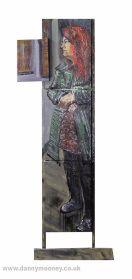 Danny Mooney 'Judith' Mixed media painting 175 x 71 cm
