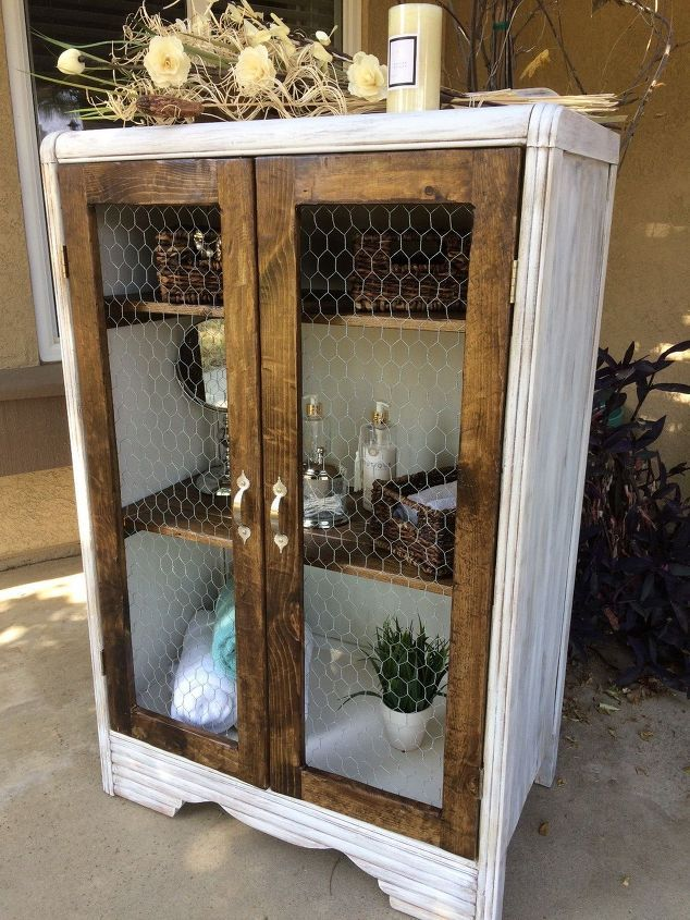 DIY Rustic Cabinet... this was made from an old dresser!