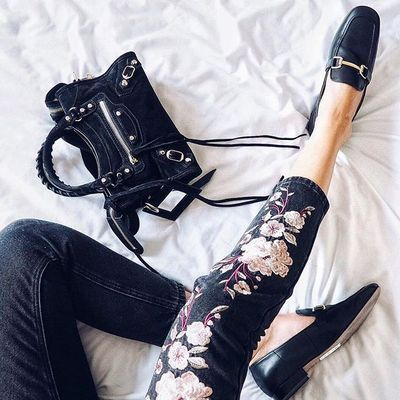 Anita and Green Black Embroidered Floral Jeans #ThisisNewLook - New Look | NL Daily - Women's Shoes - http://amzn.to/2gIrqH5