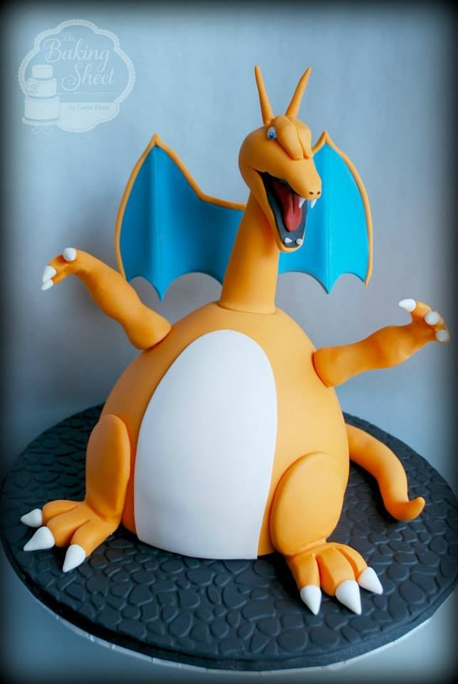 Charizard By The Baking Sheet Cakes Pinterest Charizard Baking Sheet And Pokemon Party