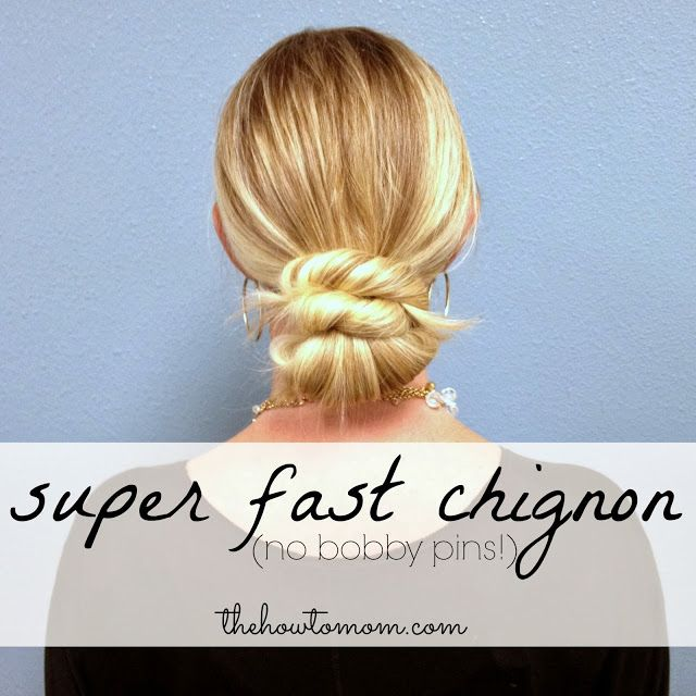 For the everyday beautiful hair try an Easy Chignon-and you won't need a single pin!