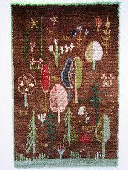 Toini Nystrm: Magic forest, 1941 (tvbrt) Tags: finland rug tampere artscrafts finnishdesign verkaranta ryijy toininystrm