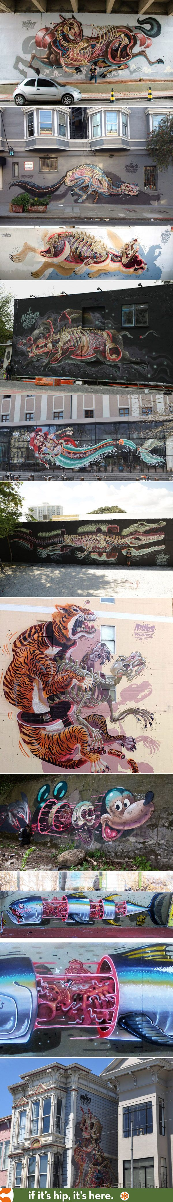 A look at the work of street Artist NYCHOS. #Graffiti #Street_Art
