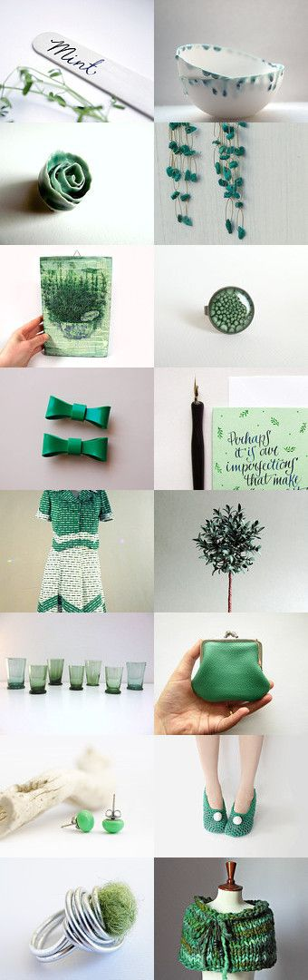 Mint green by Scocca Papillon on Etsy--Pinned with TreasuryPin.com
