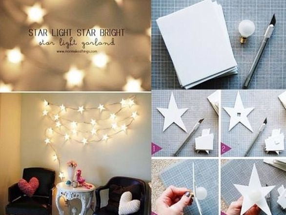 Such a cute Idea! DIY room decorations lights and stars