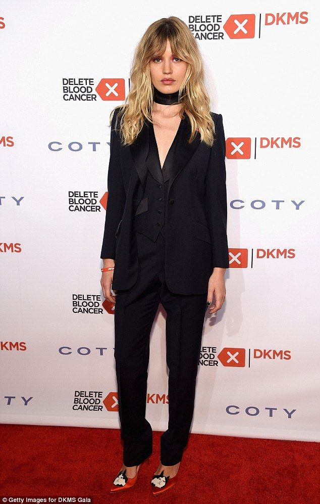 Georgia May Jagger goes for androgynous chic at Delete Blood Cancer Gala in NYC | Daily Mail Online