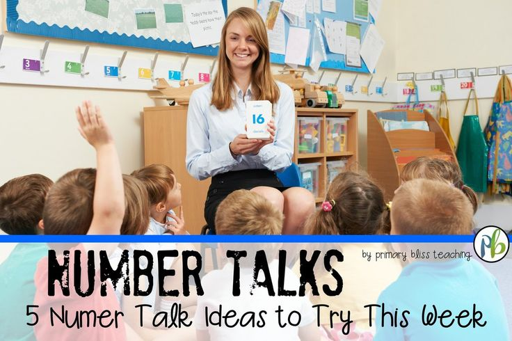 5 Number Talk Ideas To Try This Week | Primary Bliss