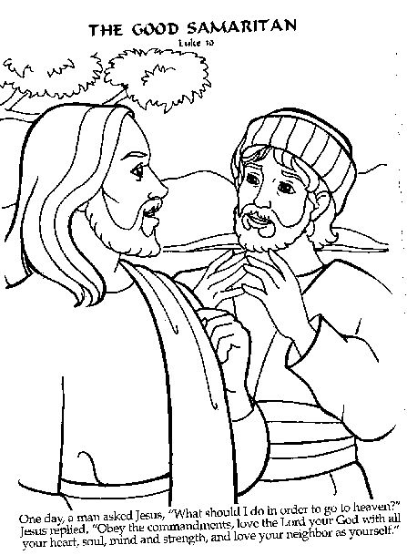 a lawyer approaches jesus to ask him about eternal life bible coloring pagescoloring - Good Samaritan Coloring Page