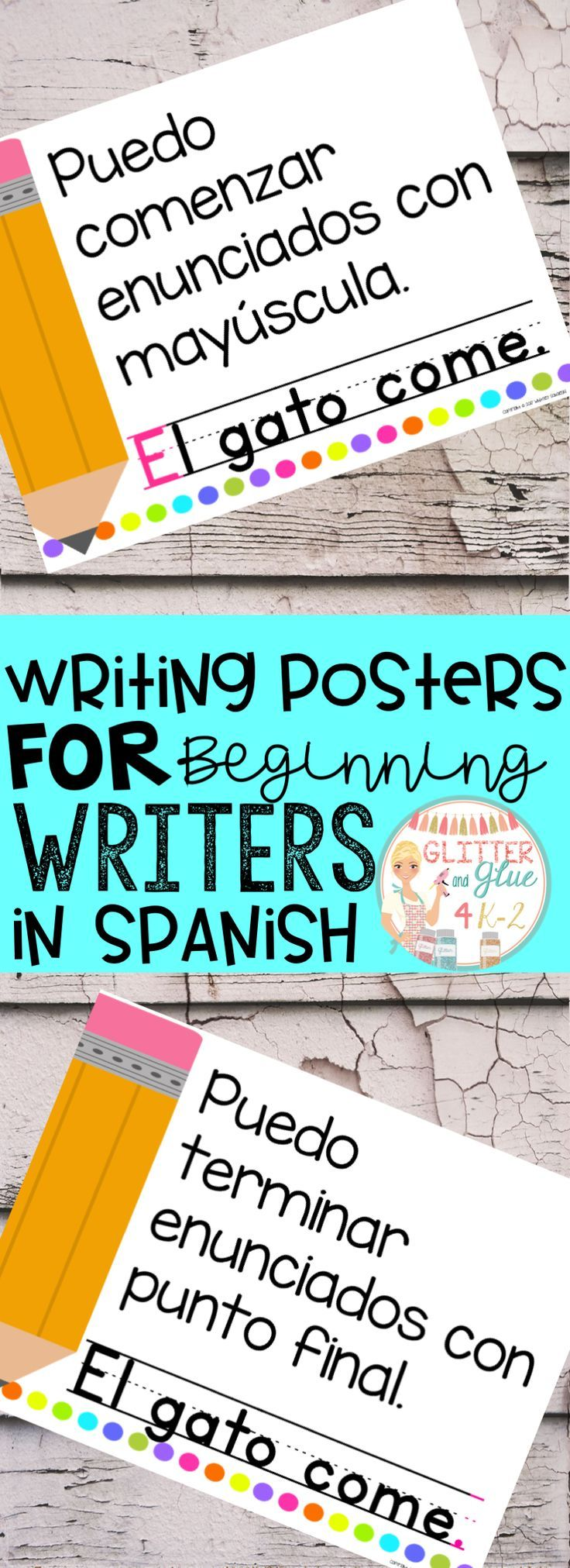 Now available in Spanish! These posters are perfect to hang in your writing center for your little ones! I would recommend these be used in either a preschool, kindergarten, or first grade classroom! I've included a version with a black background and a printer-friendly version with a white background. Keywords: ESL, bilingual teacher, Spanish resources. writing centers, kindergarten, first grade, anchor charts, chalk theme, neon, classroom décor, bright classroom