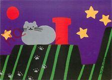 Postcard: Zofia Rostad, Serenade, Cat On Roof