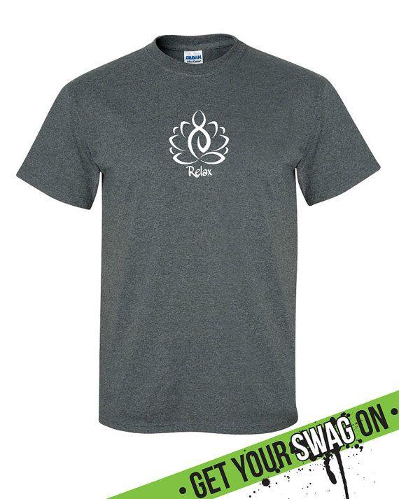 Lotus Relax Yoga T-Shirt Womens Mens Shirt Swag by SwagArtDesigns