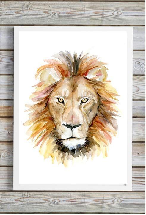 10 beste idee n over aquarel leeuw op pinterest leeuw schilderij lion en leeuw kunst - Tafel leeuw ...