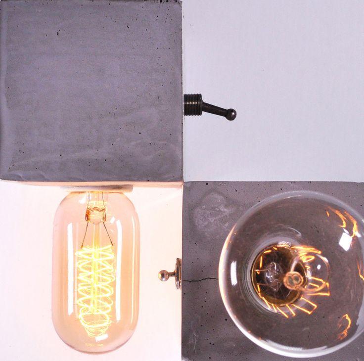 Cube de béton & ampoules Edison - Les Ateliers Hervé
