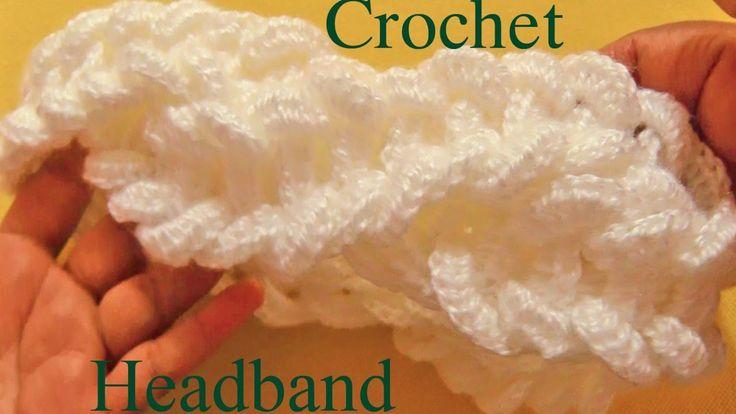 Como tejer una diadema a Crochet en punto de argollas gruesas - Learn Cr...