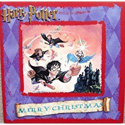 "Harry Potter ""Harry, Ron & Hermione Trio"" UK Christmas Card Imported from England"