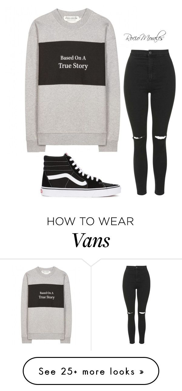 """""""Untitled #296"""" by rocio06morales on Polyvore featuring Être Cécile, Vans and Topshop"""