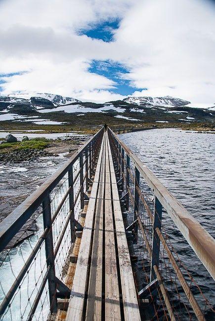 Finse lake weir bridge