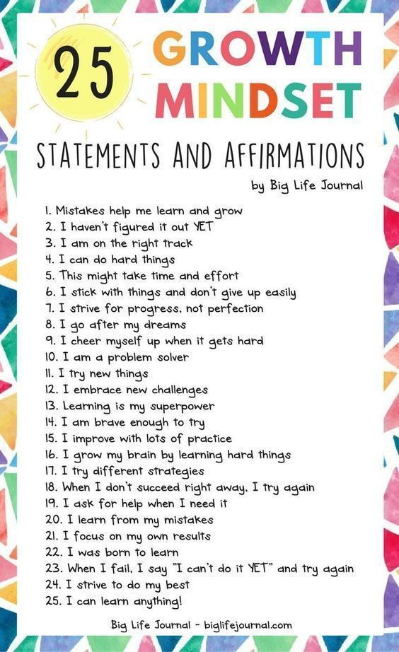 25 Growth Mindset Statements and Affirmations – Alicia