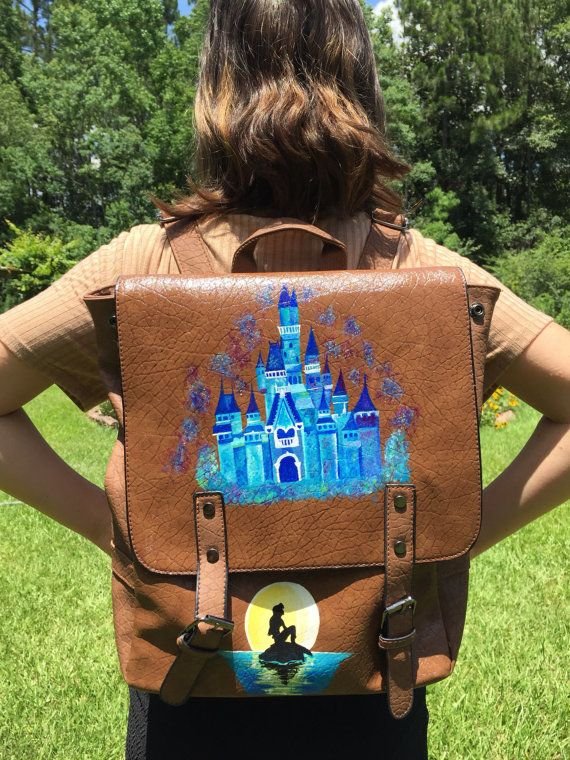 Disney Backpack: Custom Painted Backpack by theartoftraveling