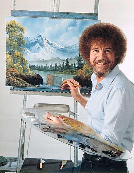 Ressam Bob Ross.Bob Ross, yaptığı bir tuvalin önünde Genel bilgiler Doğum adıBob Norman Ross Doğum29 Ekim 1942 Ölüm4 Temmuz 1995 (52 yaşında) Yeni Smyrna Sahili, Florida, ABD AlanıResim