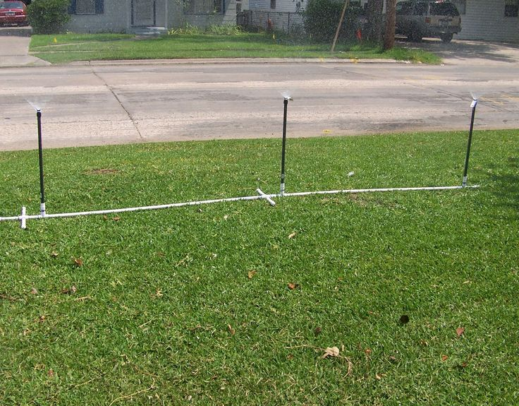 So you don't wantthe high costorpain of digging up your yard that isinvolvedof installinga lawn sprinkler system. This system requires no digging, no permits, and no professional contractor to install it. It covers a large area and can be moved all around your yard. It cost about $25.00 to make and requires no professionals to put it together. If you follow these easy instructions, you can be on your way to a well watered yard within the h...