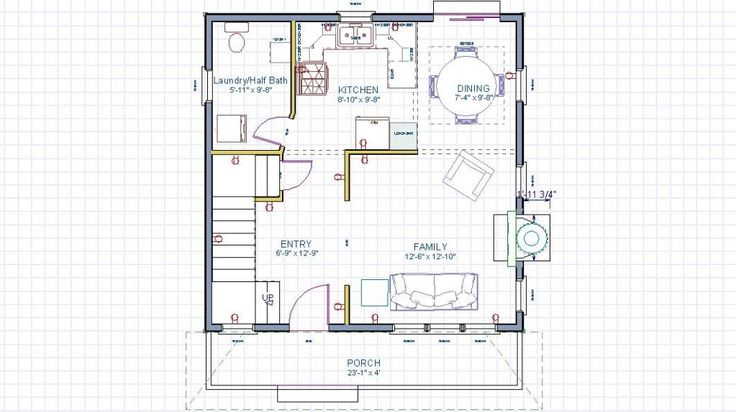 129 best floor plans images on pinterest log houses for 24x24 house plans with loft