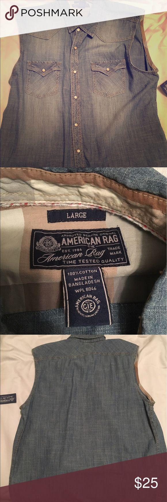 American Rag American Rag sleeveless jean shirt American Rag Shirts
