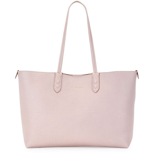 Alexander Mcqueen Lino Small Embossed Leather Tote Bag (6,785 CNY) ❤ liked on Polyvore featuring bags, handbags, tote bags, nude, leather purses, leather tote bags, handbags totes, leather tote handbags and pink tote bags