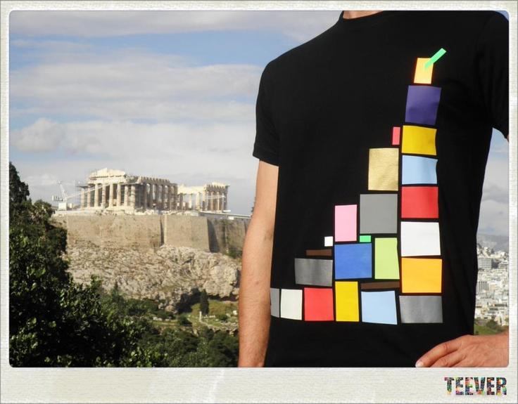 Cotton Black T-Shirt Design : Tower