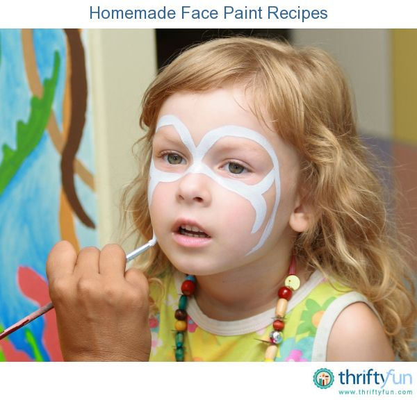 This is a guide about homemade face paint recipes. You don't have to wait for an event that features face painting to decorate your or your children's faces.