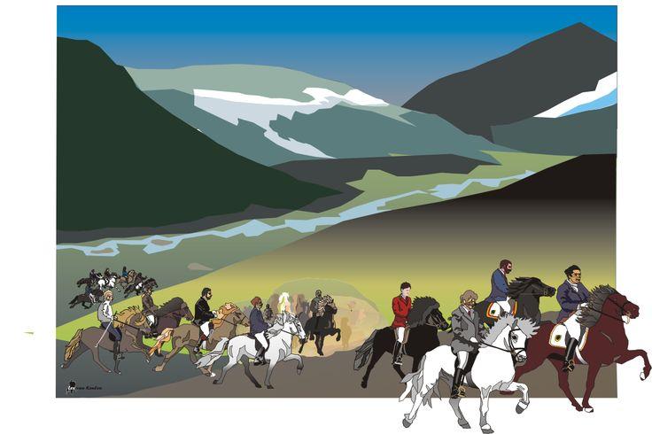 legendarische ijslandse paarden en hun ruiters