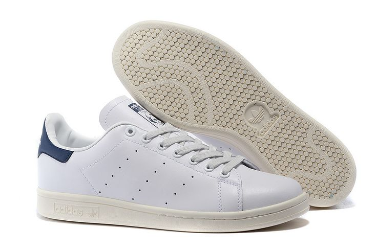 Latest Adidas Women Casual Shoes 2016 Superstar Smith Leather white blue