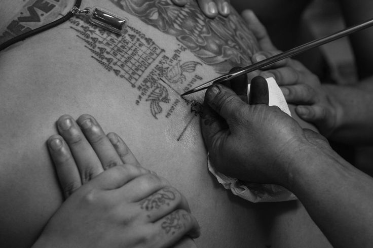 """Sacred Ink: Photographer David Longstreath and zReportage (ZUMA Press) take an in-depth look at a religious tattoo festival in Thailand called """"Wai Kru."""" The custom is centuries old and the """"Sak Yant"""" tattoos are applied with a long, pointed steel spire. (Photos and text courtesy of David Longstreath and ZUMA Press)"""