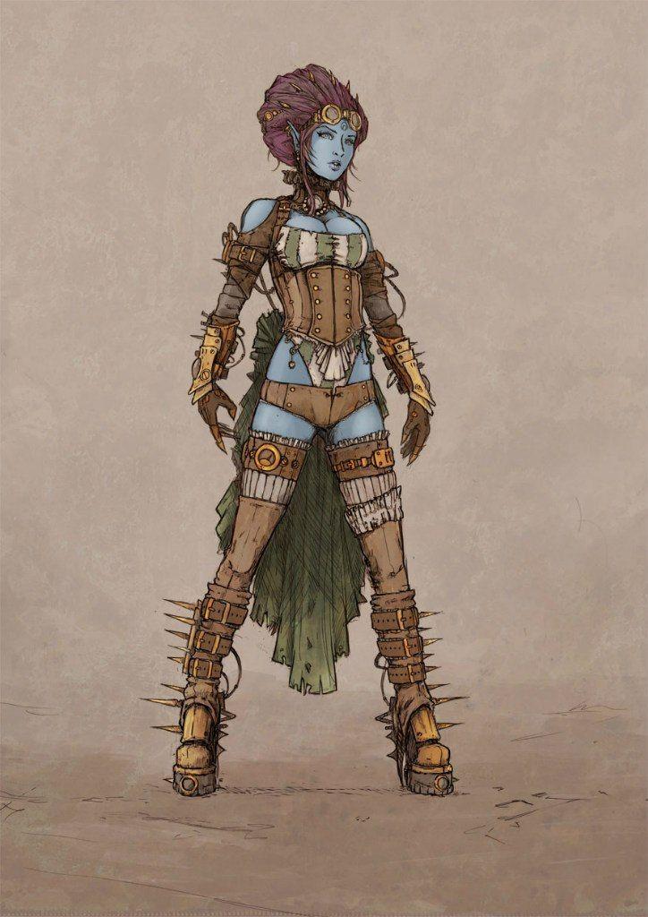 League of Legends fan art -- Hextech Evelynn actually looks nicer than classic Evelynn