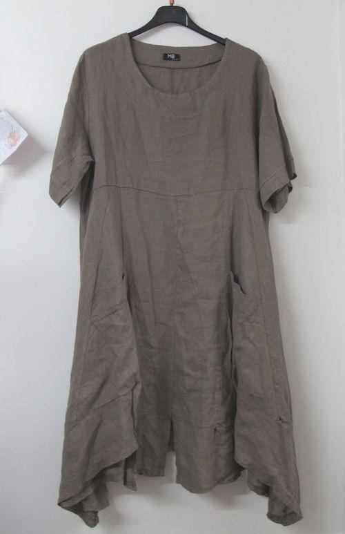 Lagenlook Mb Germany Linen Tunic Dress Mocha My Style