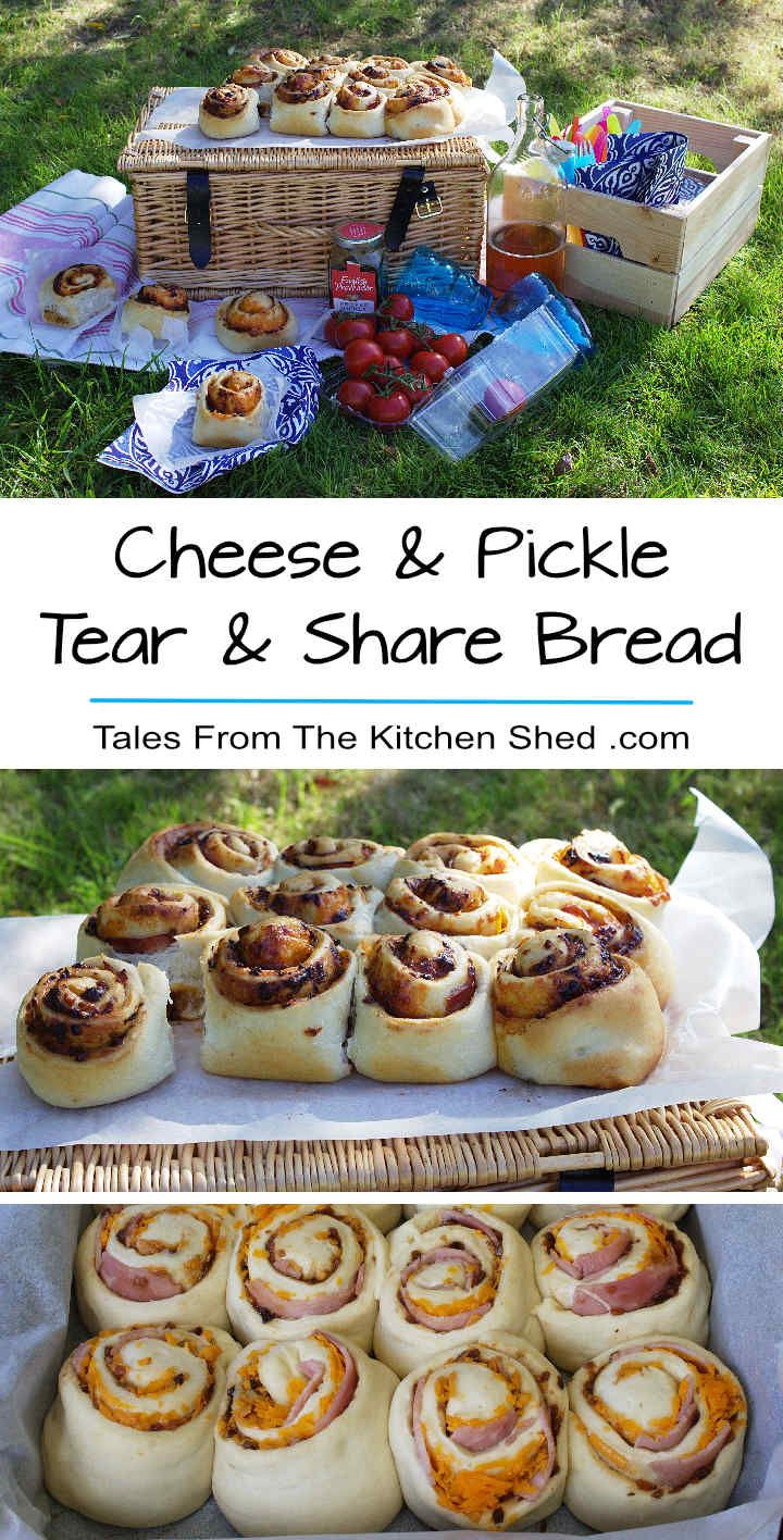 Cheese & Pickle Tear & Share Bread stuffed with cheese, ham & pickle…