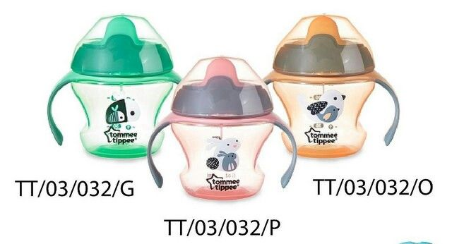 Tommee tippee 1st sippee cup 4m+ 3wrn 1seri 3pcs @ 87.000