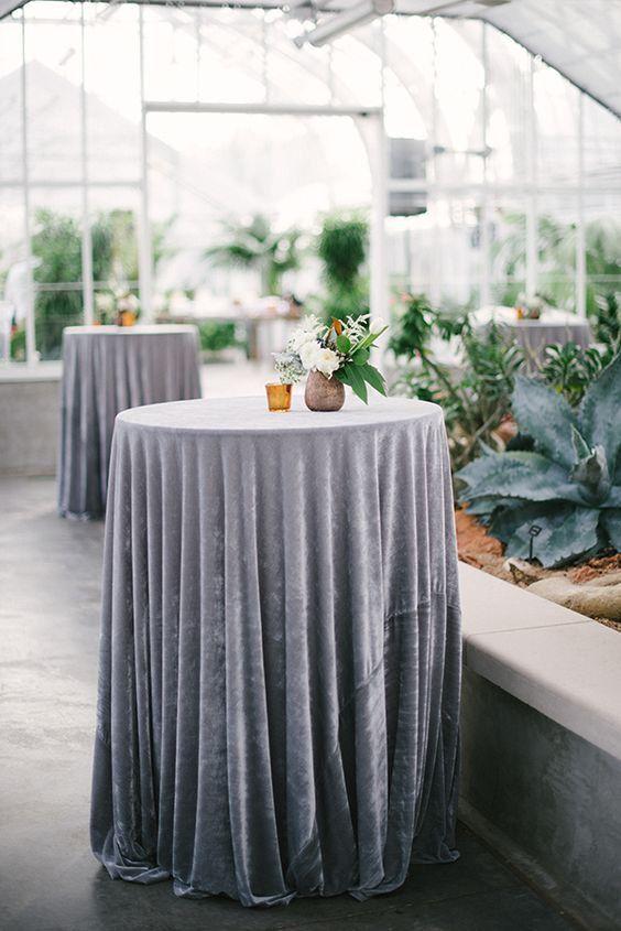 velvet table linens for wedding