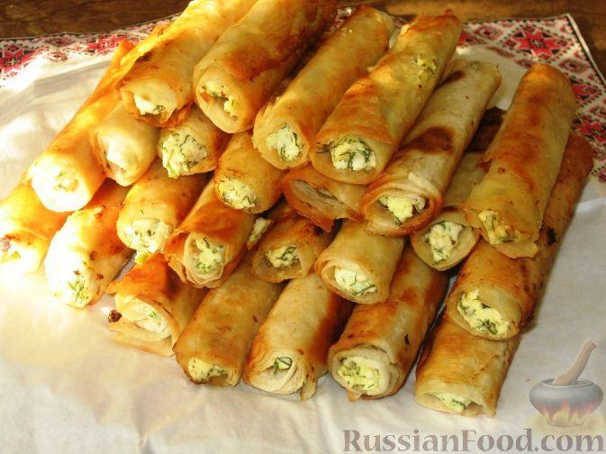 Фото приготовления рецепта: Сигара бёрек из лаваша - шаг №6
