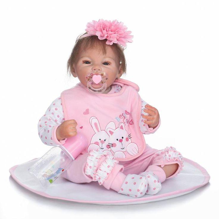 50cm Silicone Reborn Baby Doll Toys Realistic 20inch Pink Princess Newborn babies Doll Child Birthday Gift Girls Brinquedos #Affiliate