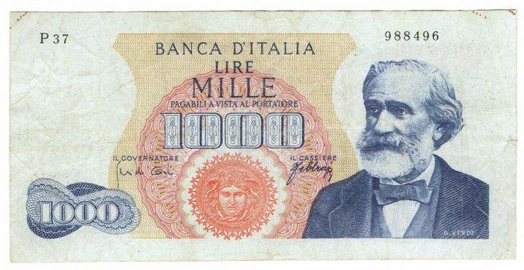 Italy, 1000 Lire, 1962