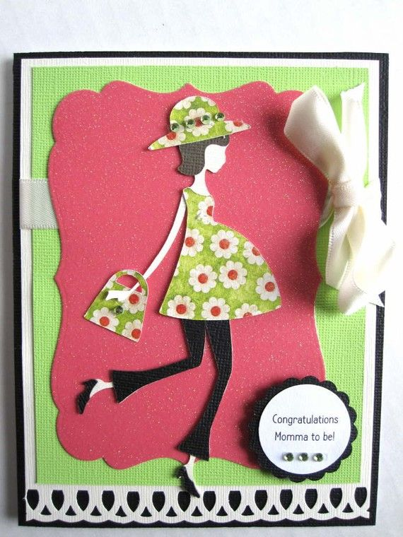PERSONALIZED Pregnancy card Congratulations by BellaCardCreations